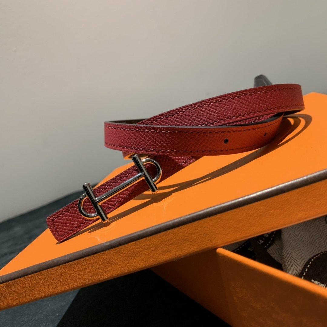 爱马仕Hermes意大利进口头层手掌纹牛皮配平纹纯铜扣(图15)