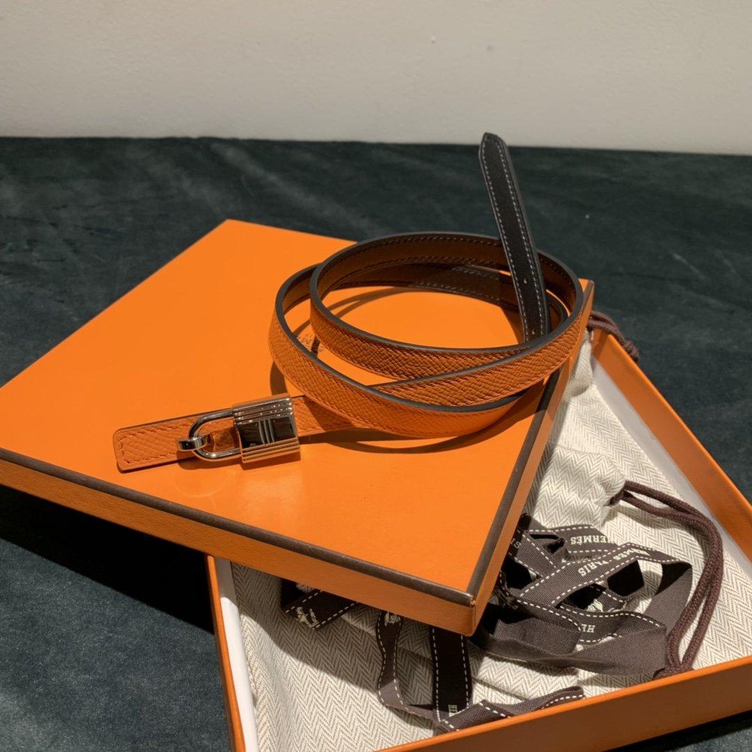 爱马仕Hermes意大利进口头层手掌纹牛皮配平纹纯铜扣(图13)