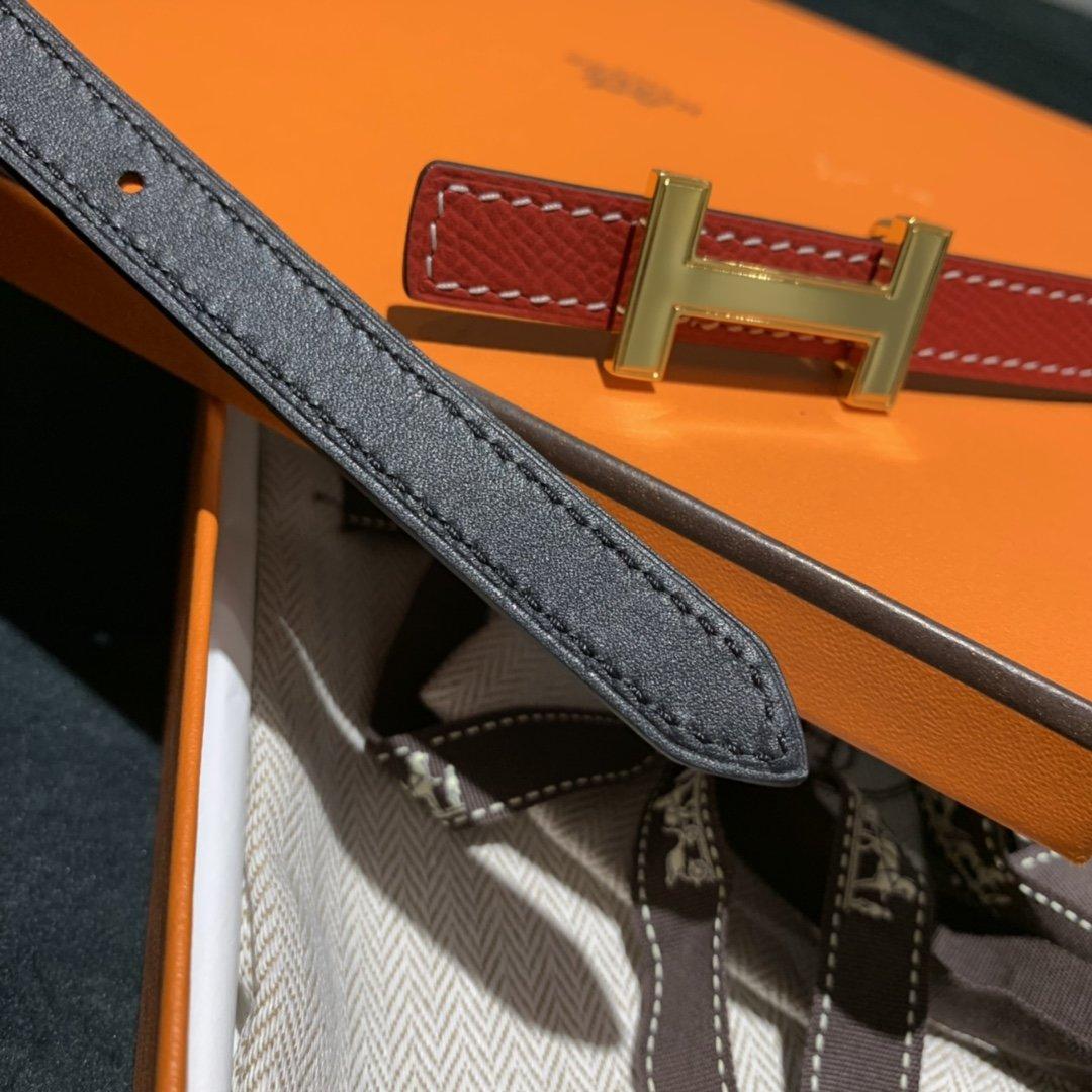 爱马仕Hermes意大利进口头层手掌纹牛皮配平纹纯铜扣(图8)