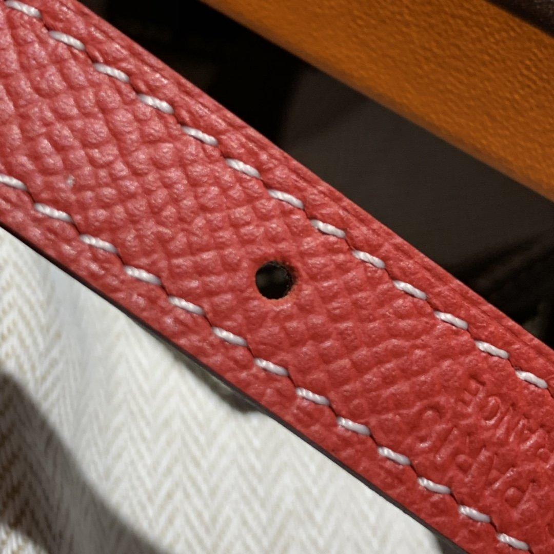 爱马仕Hermes意大利进口头层手掌纹牛皮配平纹纯铜扣(图9)