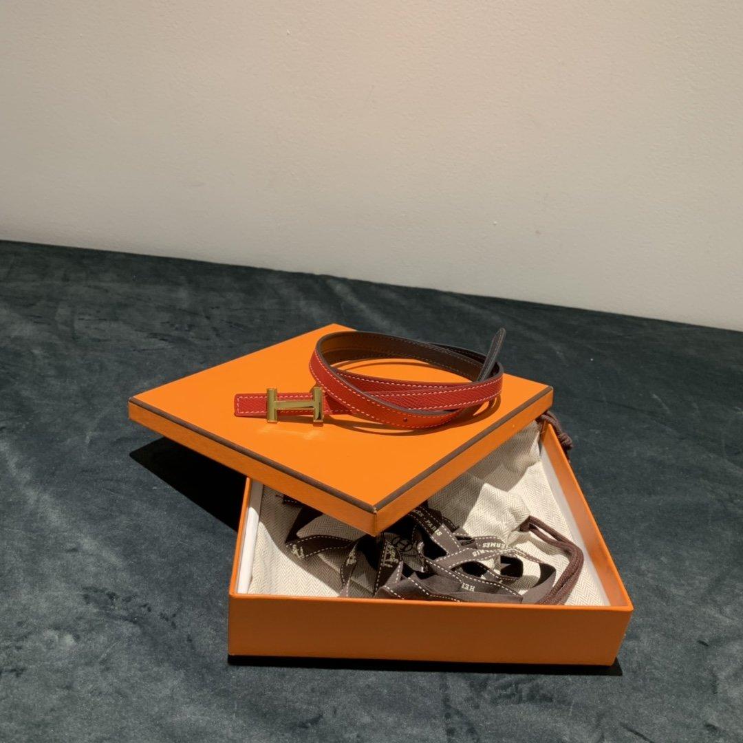 爱马仕Hermes意大利进口头层手掌纹牛皮配平纹纯铜扣(图4)