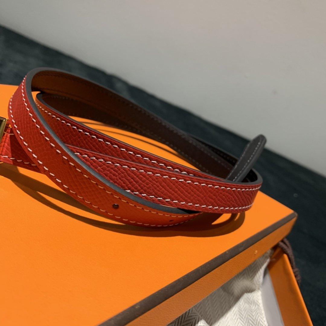 爱马仕Hermes意大利进口头层手掌纹牛皮配平纹纯铜扣(图6)