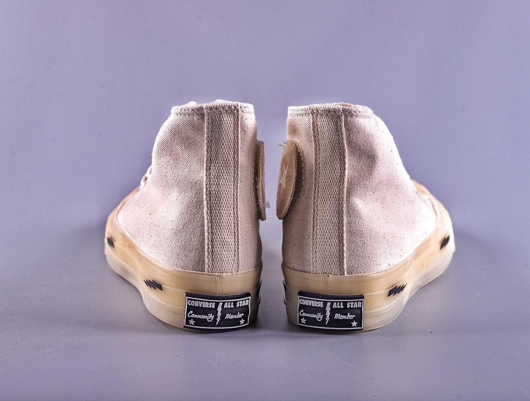 高仿藤原浩闪电二代匡威联名1970高帮果冻底帆布鞋男女板鞋