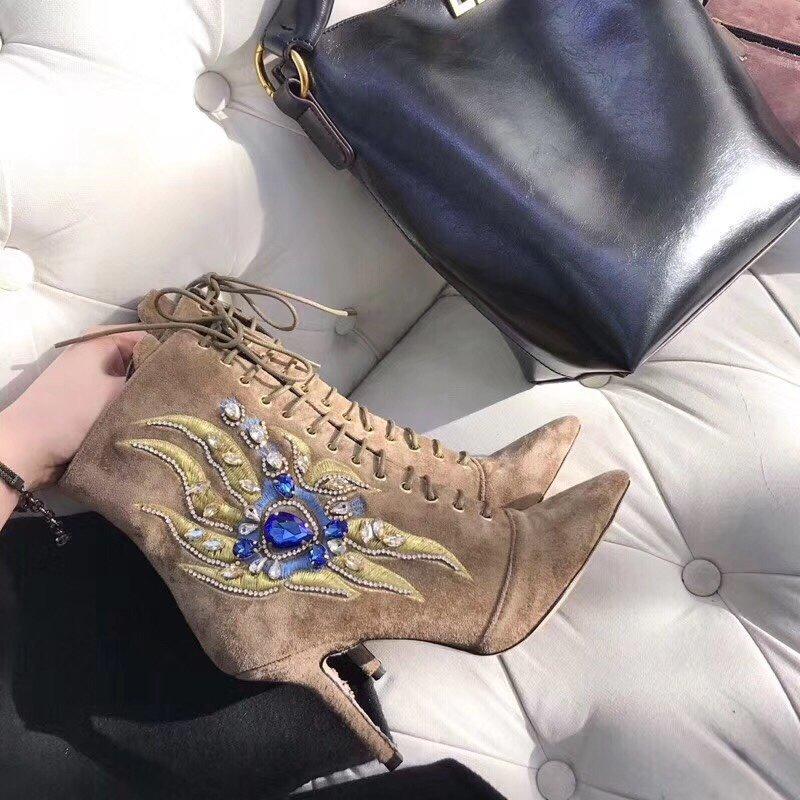 Gedebe大颗水钻镶嵌高跟鞋原版开