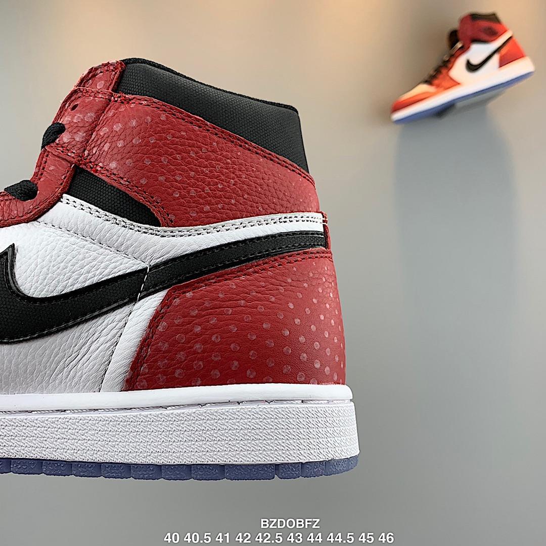 高仿AJ复古高帮篮球男鞋乔丹AJ1蜘蛛侠白红芝加哥555088 602
