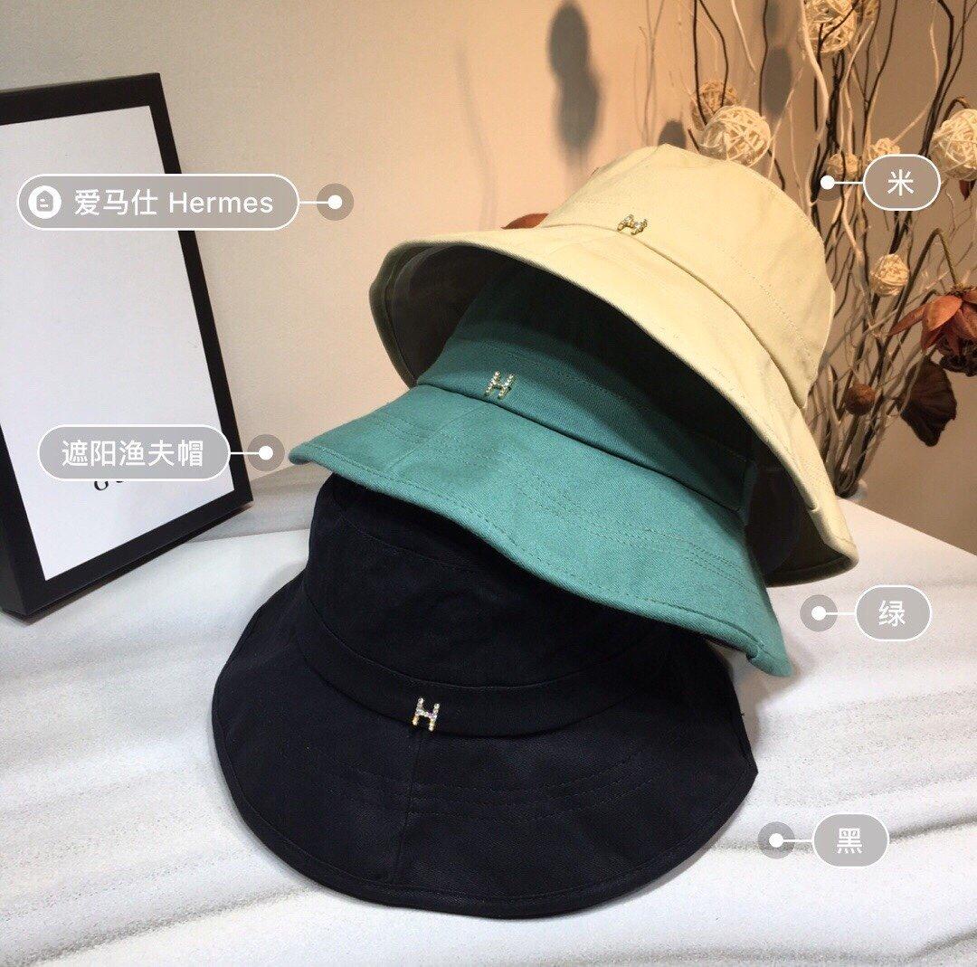 Hermes爱马仕新款渔夫帽日系气质