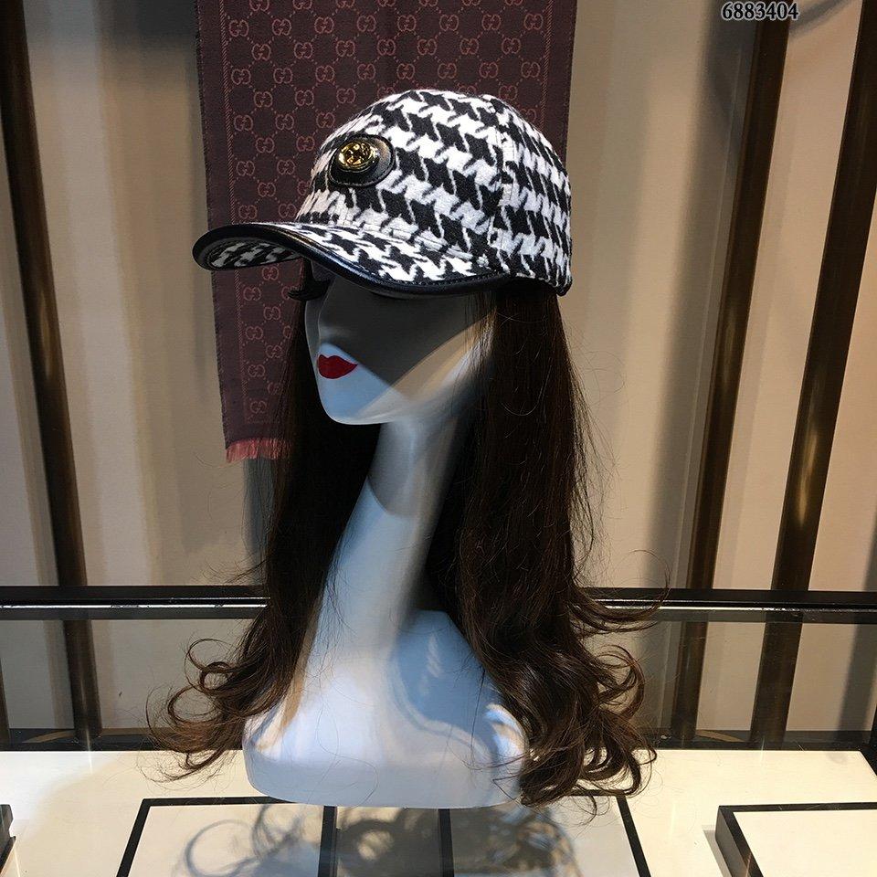 Gucci棒球帽时尚千鸟格超好搭哦档