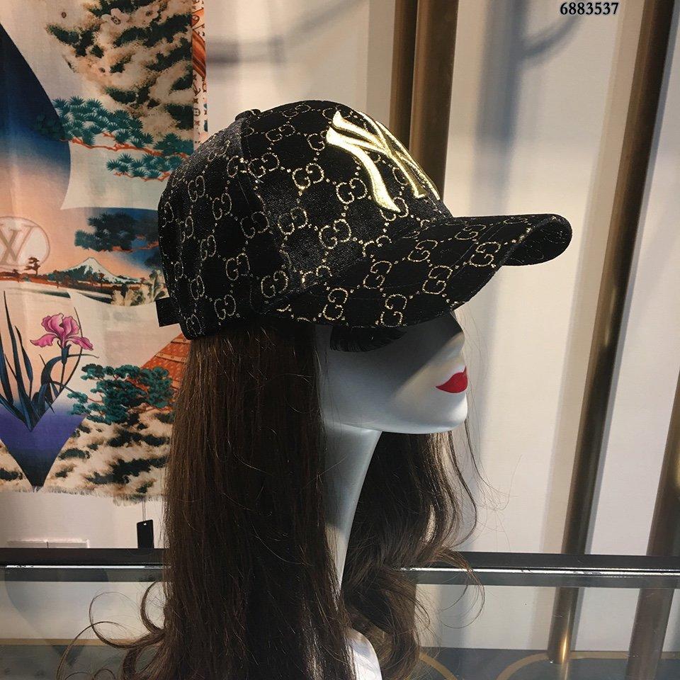 官网最新ny绒布刺绣棒球帽金线立体刺