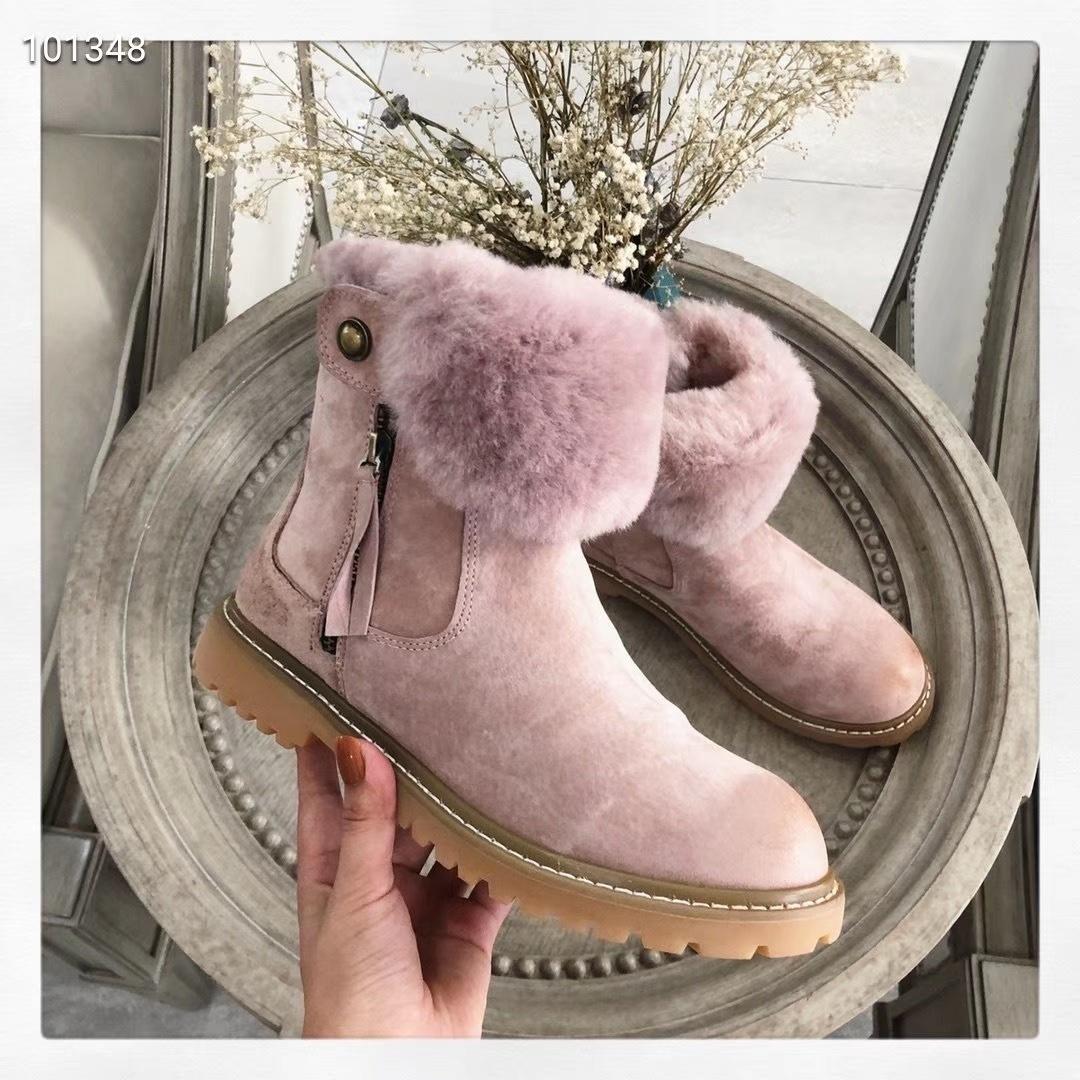 ugg皮毛一体马丁靴原单高档货时尚界
