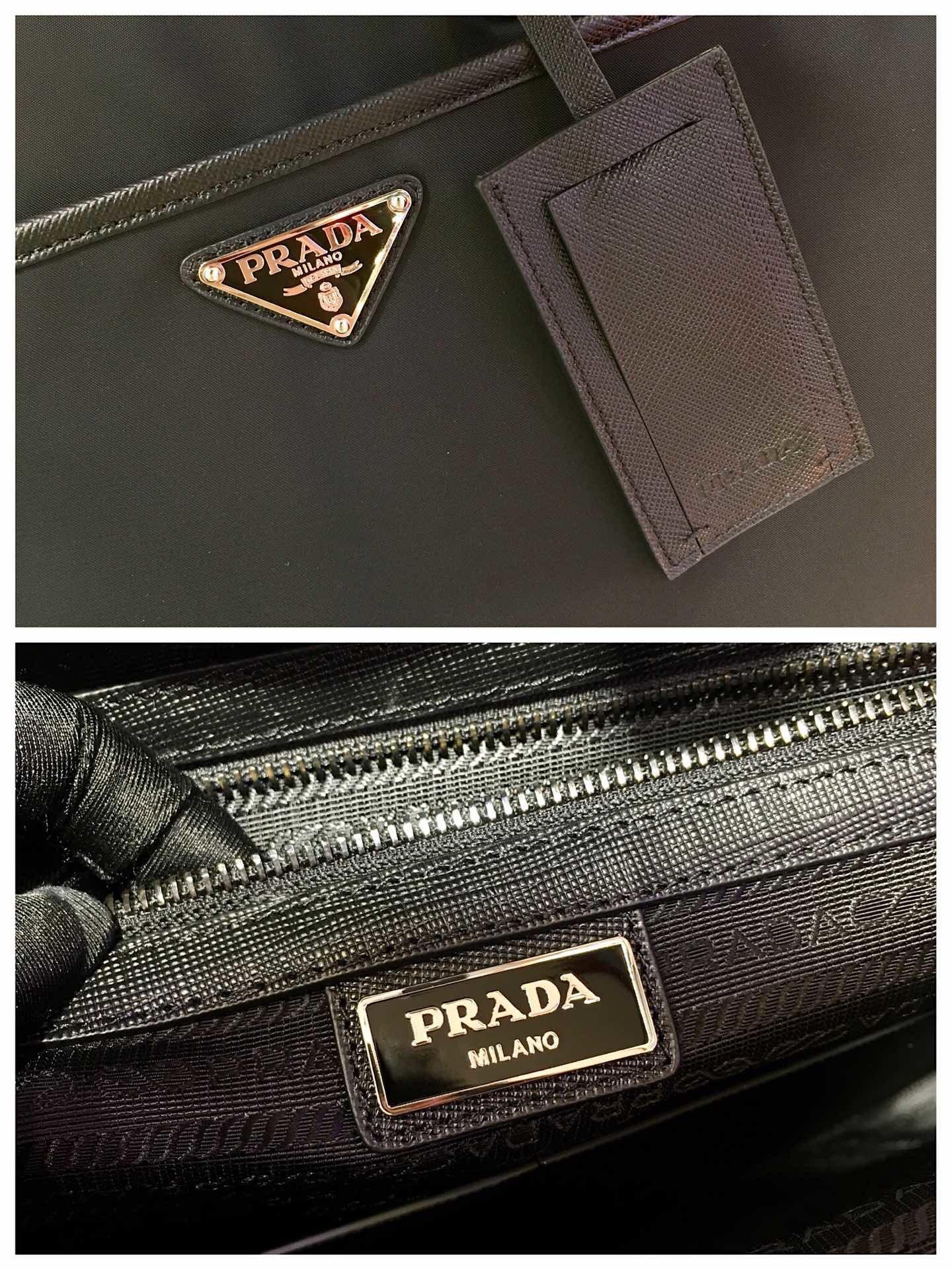 prada普拉达独家首发2VE015多功能公文包/双肩背包 (图5)