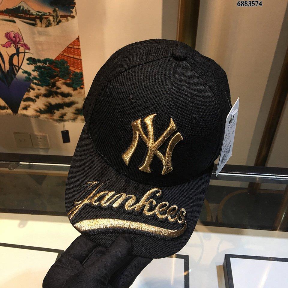 NY棒球帽超有气质低调奢华帽檐金属更