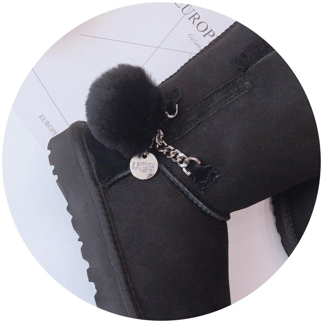UGG冬季新款萌女神吊坠款可爱的羊毛