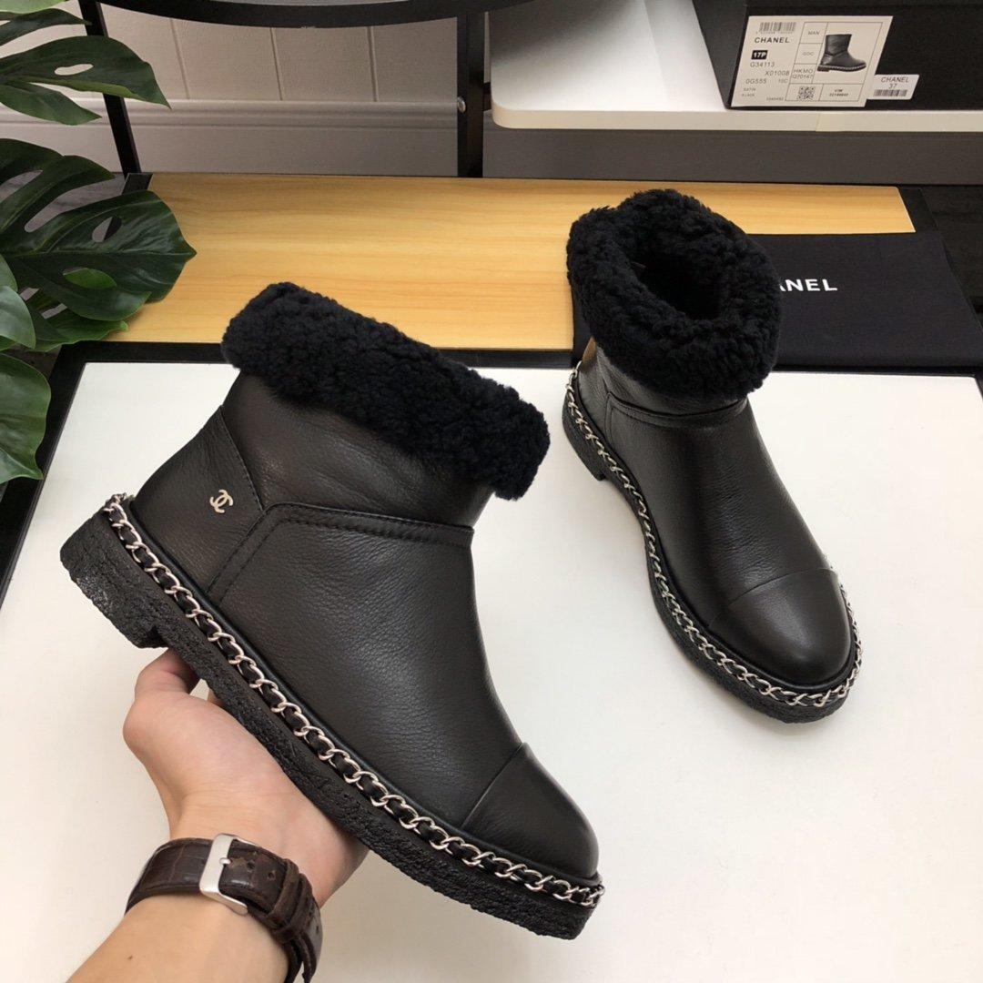 CHANEL秋冬雪地靴靴筒可翻下两穿