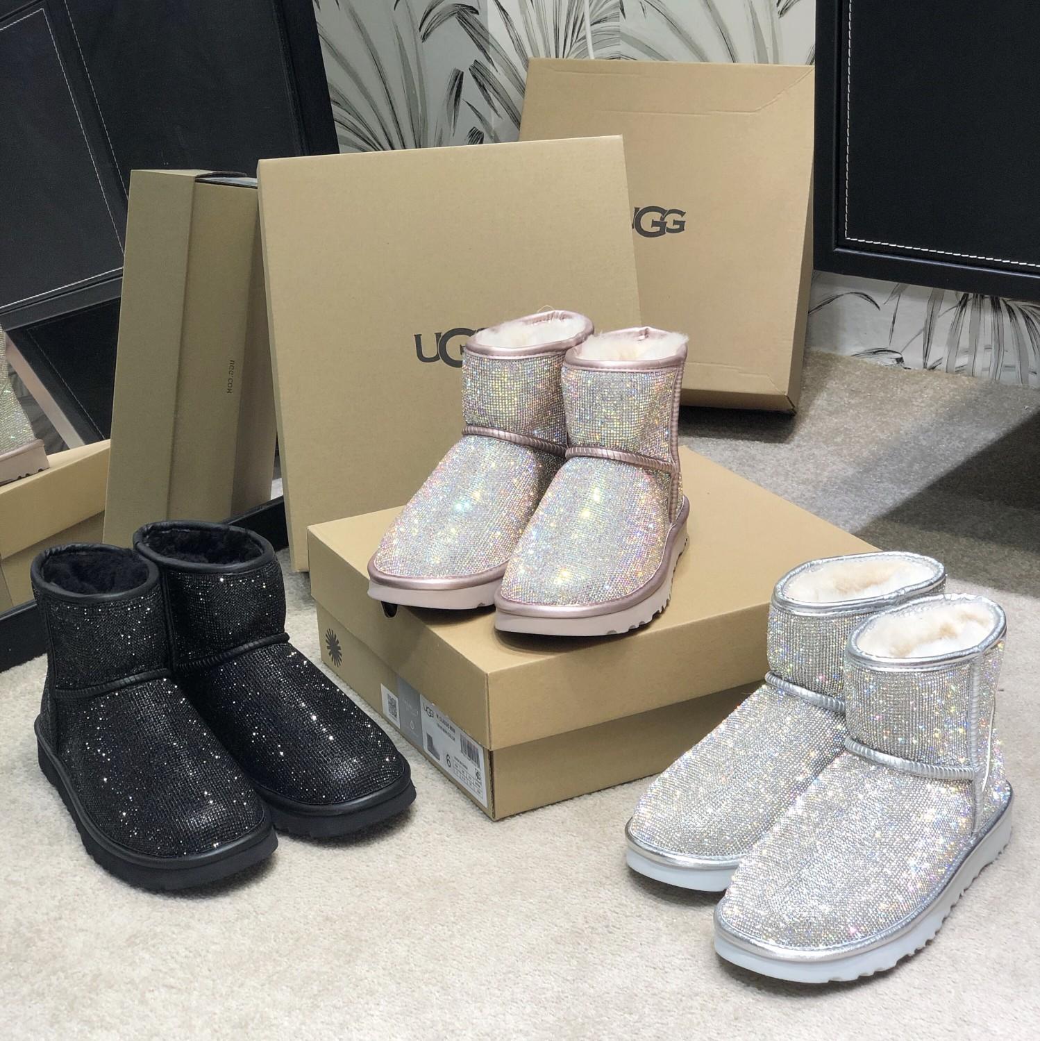 UGG满钻系列全新工艺低筒代购级施华