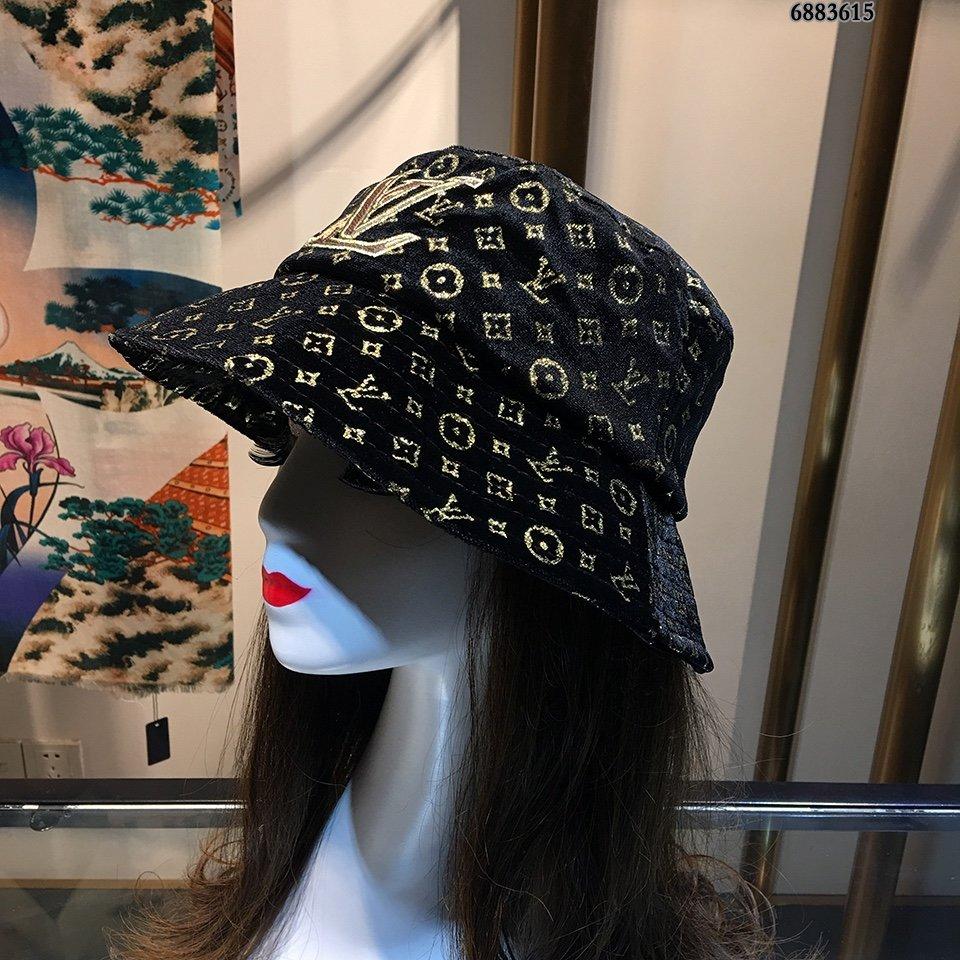 LV渔夫帽原版原标设计烫金丝绒质感超
