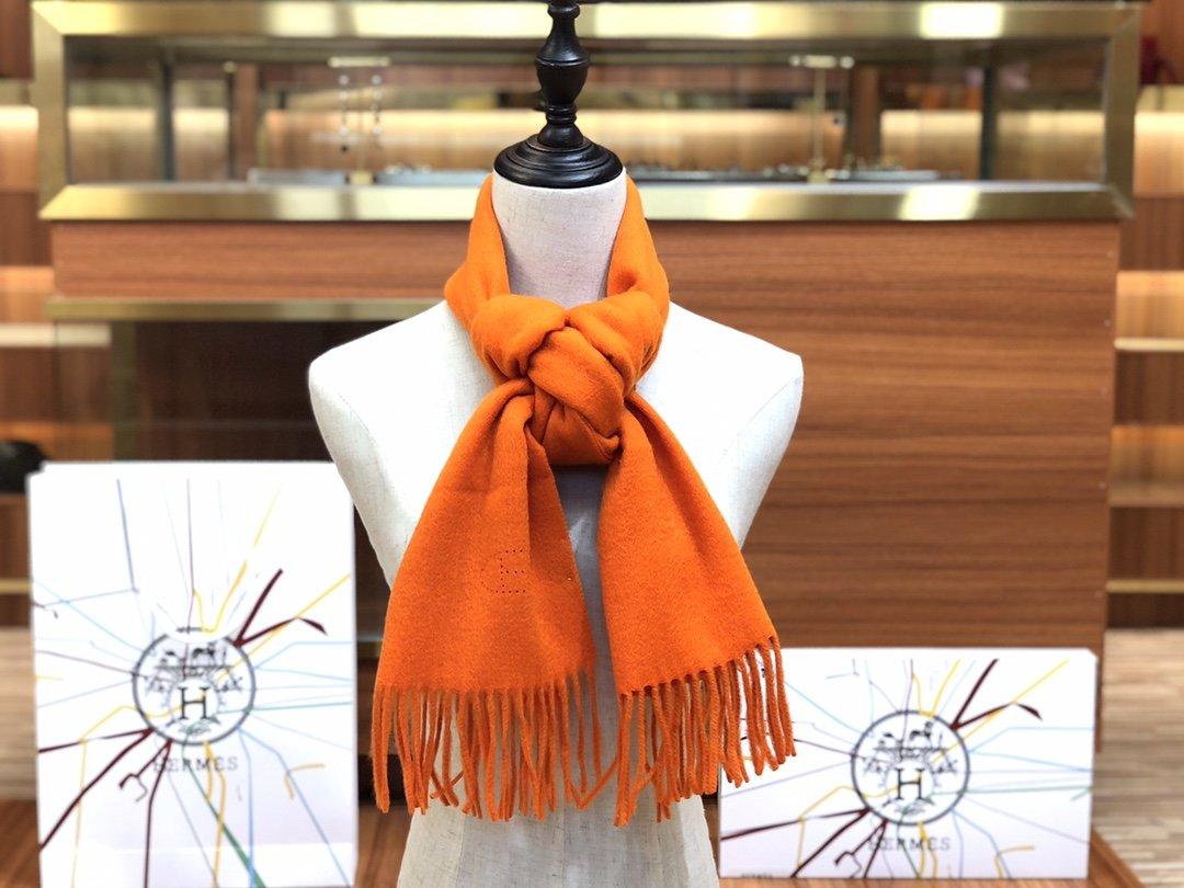Hermes2019专柜最新款  顶级羊绒长巾(图7)