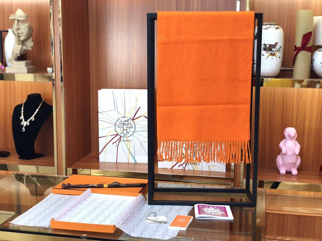 Hermes2019专柜最新款  顶级羊绒长巾(图3)