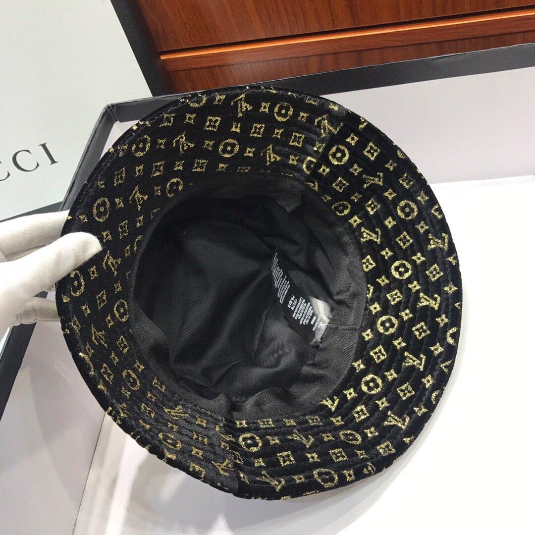 LV路易威登渔夫帽原版原标设计烫金丝