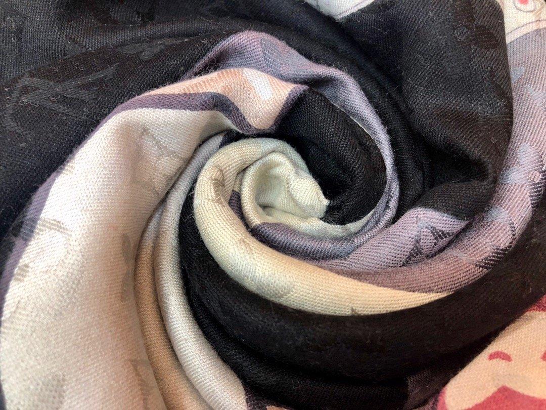 Louis VuittonLv 围巾 提花印花  专柜同款(图4)