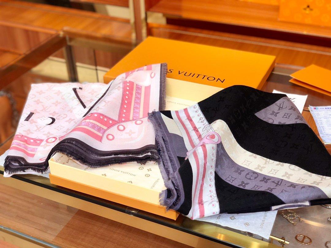 Louis VuittonLv 围巾 提花印花  专柜同款(图1)