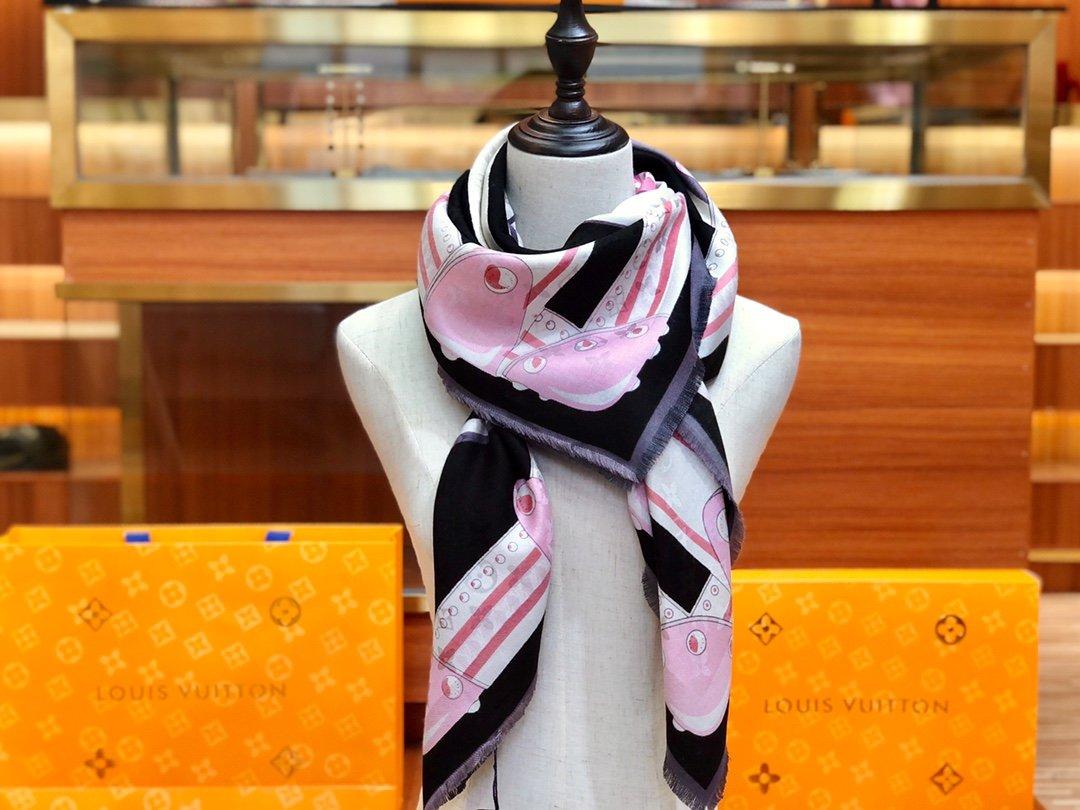 Louis VuittonLv 围巾 提花印花  专柜同款(图6)