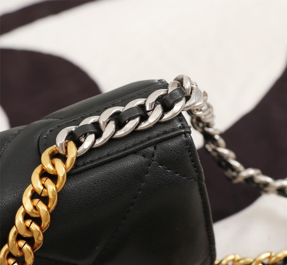 .新款Woc链条包单肩斜挎包小牛皮链