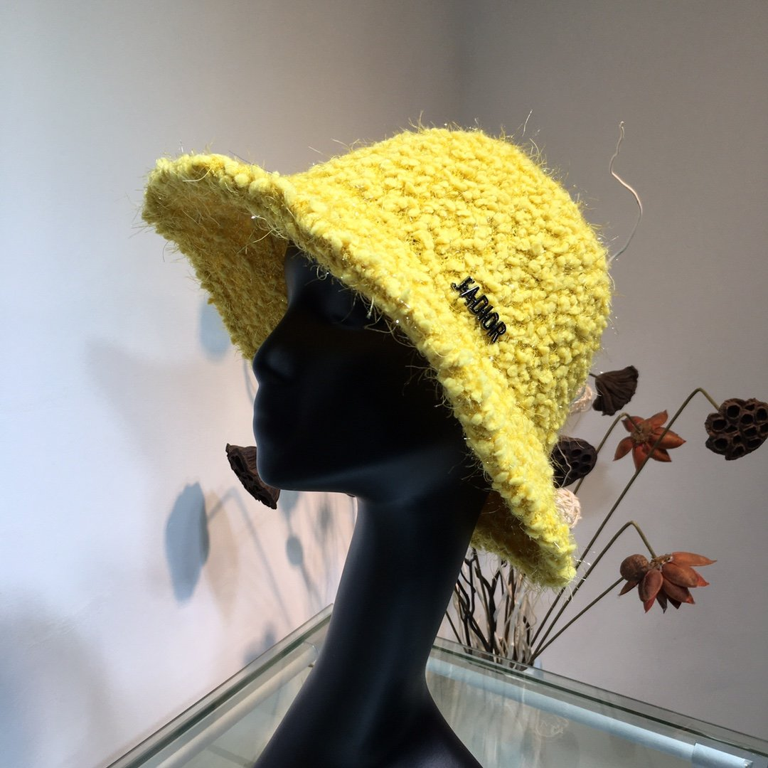 Dior迪奥针织毛线帽渔夫帽秋冬新品