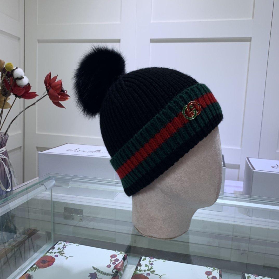 古奇GUCCI羊毛针织帽!精选羊毛质