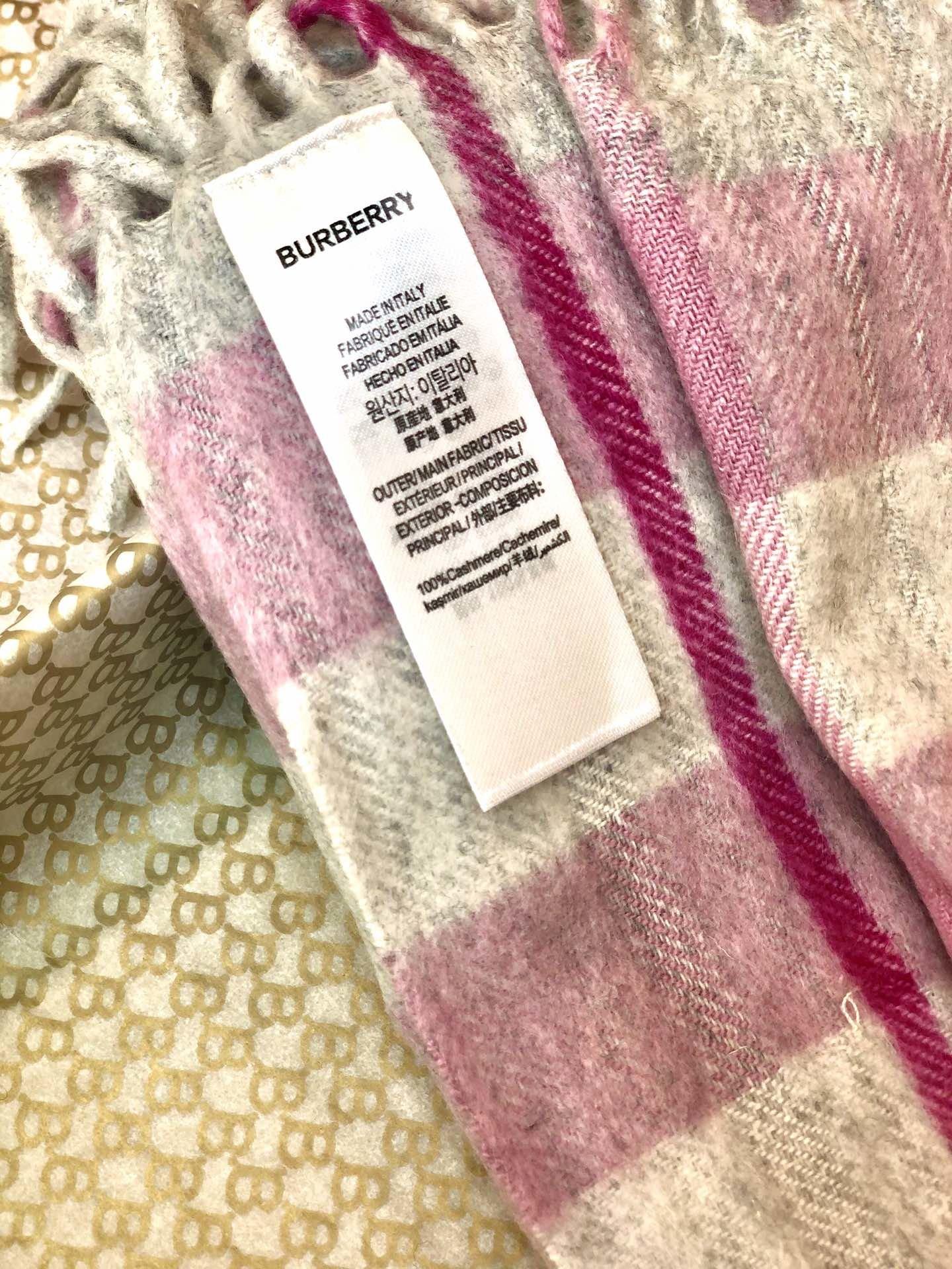 海外原单巴宝莉 100%山羊绒短款蜈蚣围巾  经典格纹围巾(图6)