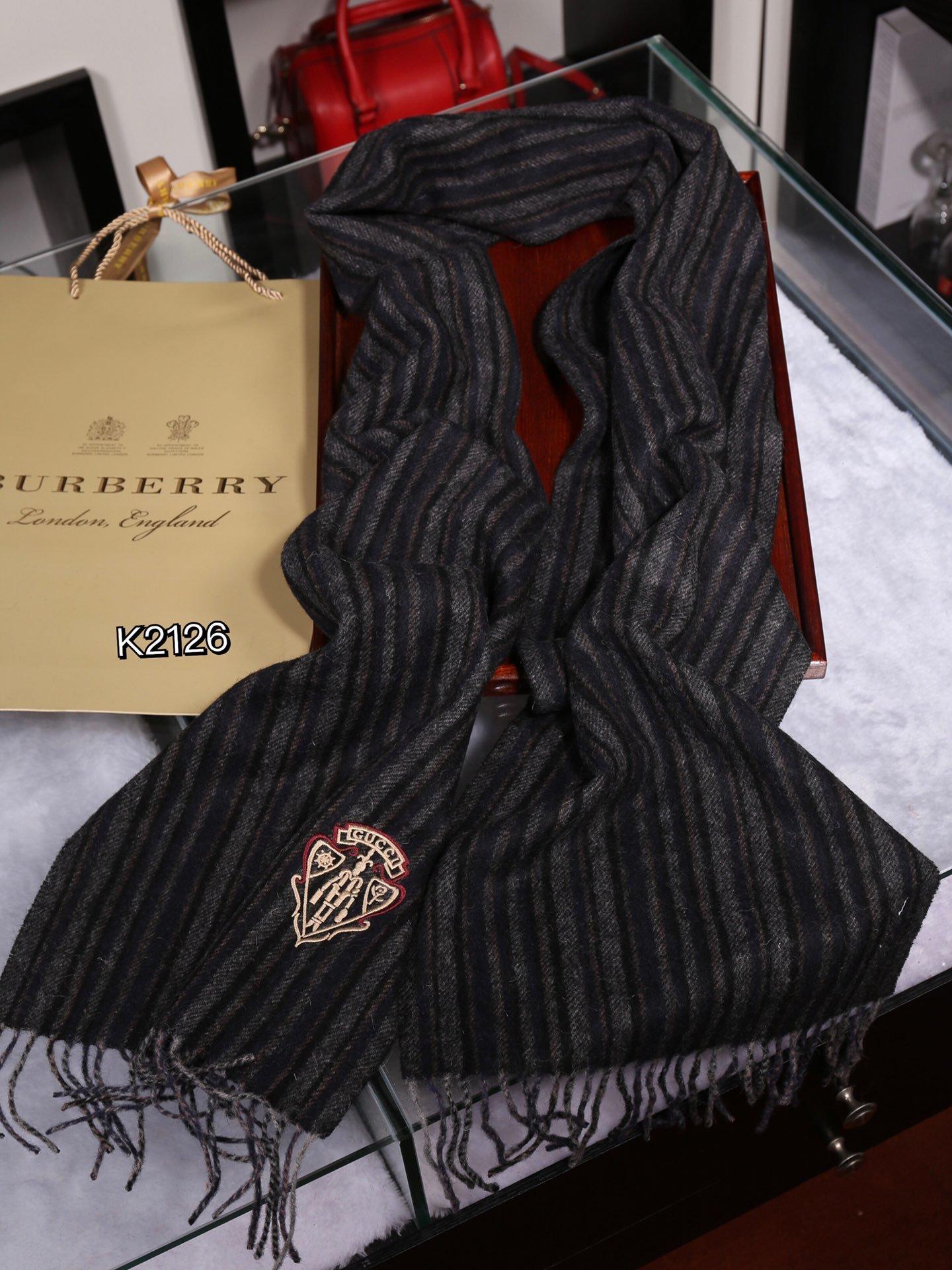 专柜原版招牌男款围巾古奇设计男款一直