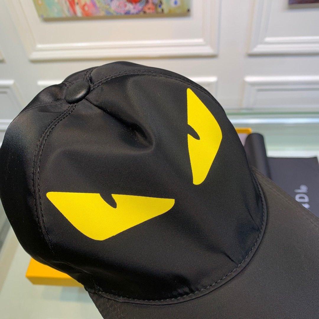 Fendi芬迪新款原单棒球帽小怪兽专