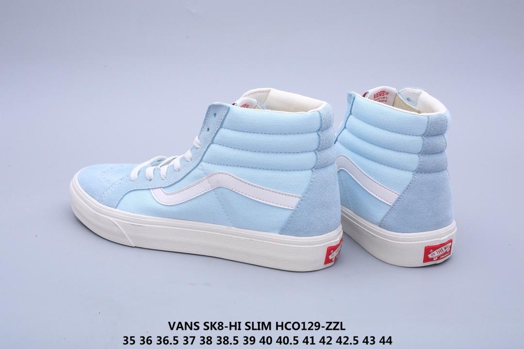 💰180!Vans SK8-Hi Slim 万斯高帮帆布硫化滑板鞋35 36 36.5 37 38 38.5 39 40 40.5 41 42 42.5 43 44公司级真标HCO129-ZZL