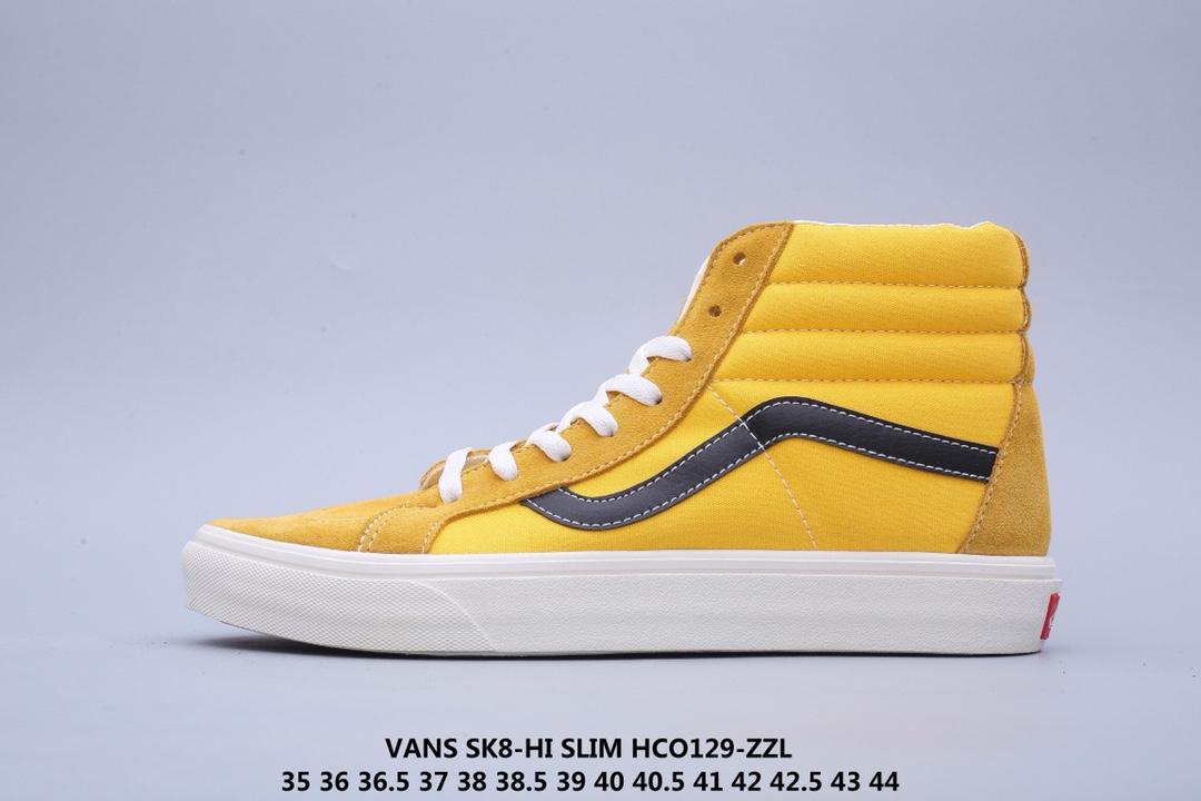 🈴💰180!Vans SK8-Hi Slim 万斯高帮帆布硫化滑板鞋35 36 36.5 37 38 38.5 39 40 40.5 41 42 42.5 43 44公司级真标HCO129-ZZL