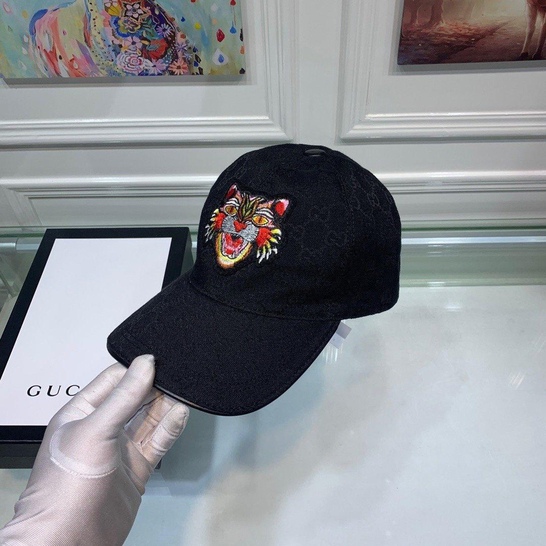 Gucci古奇新款原单棒球帽猫头刺绣