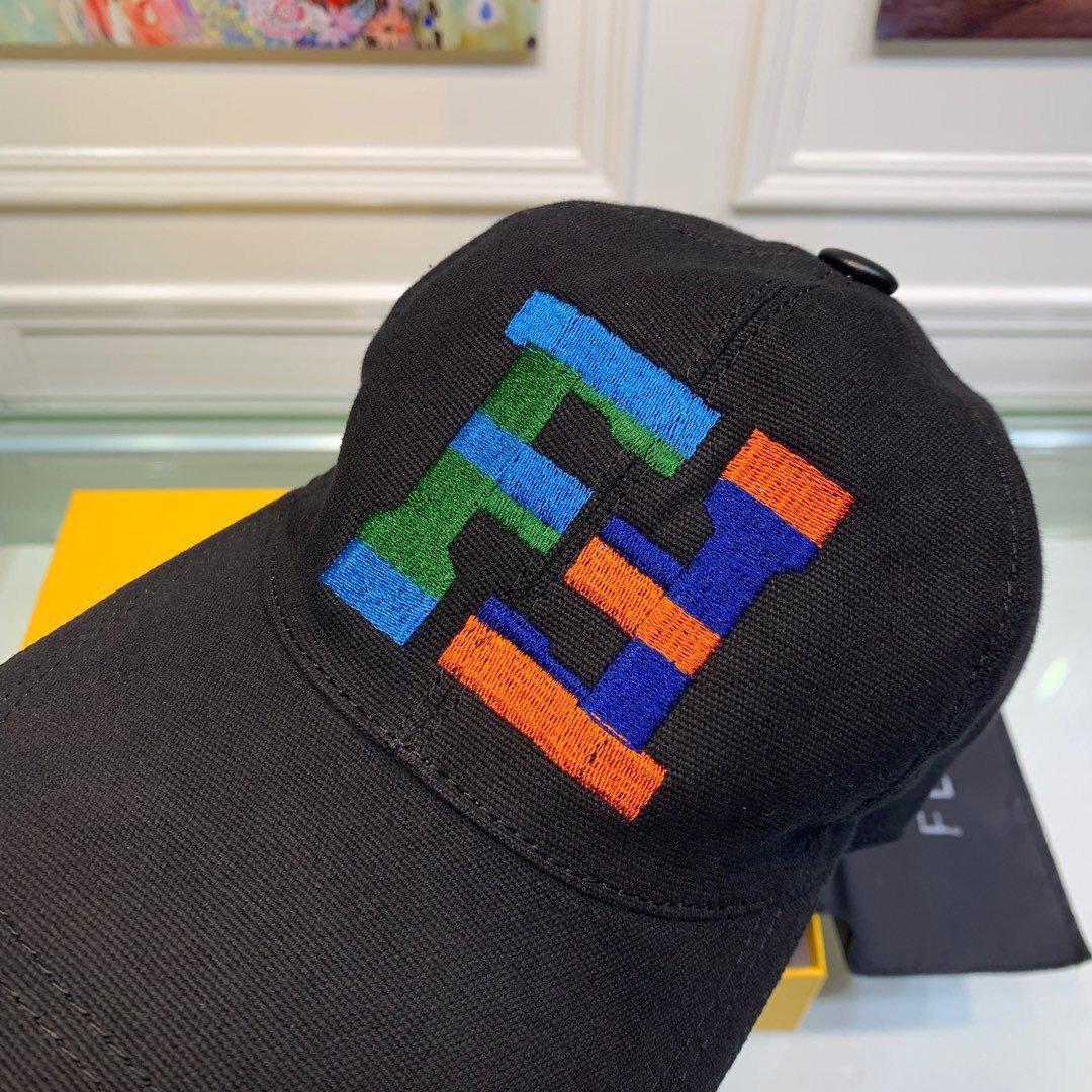 Fendi芬迪新款原单棒球帽双F大刺