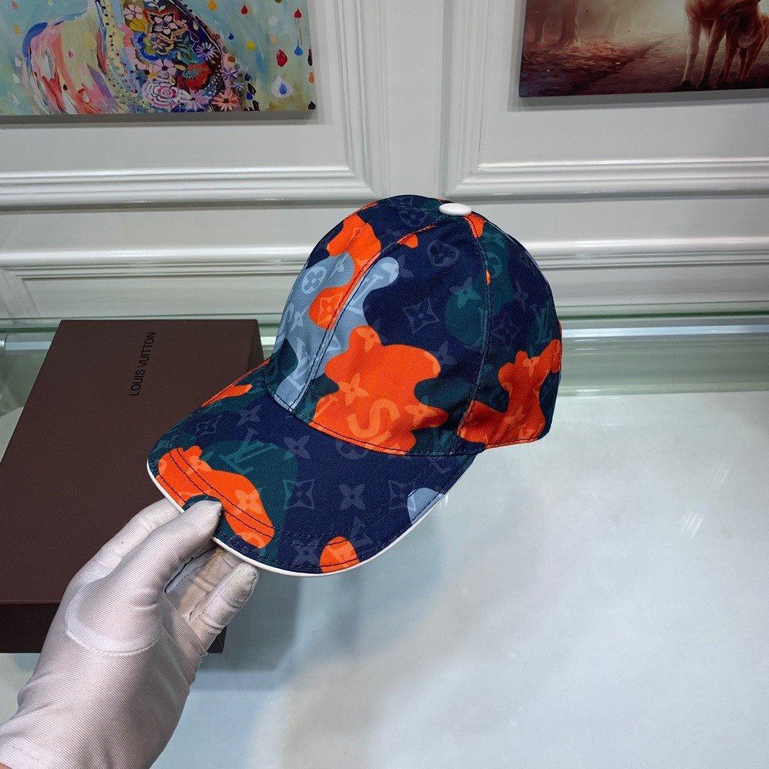 LV路易威登新款原单棒球帽迷彩暗花专