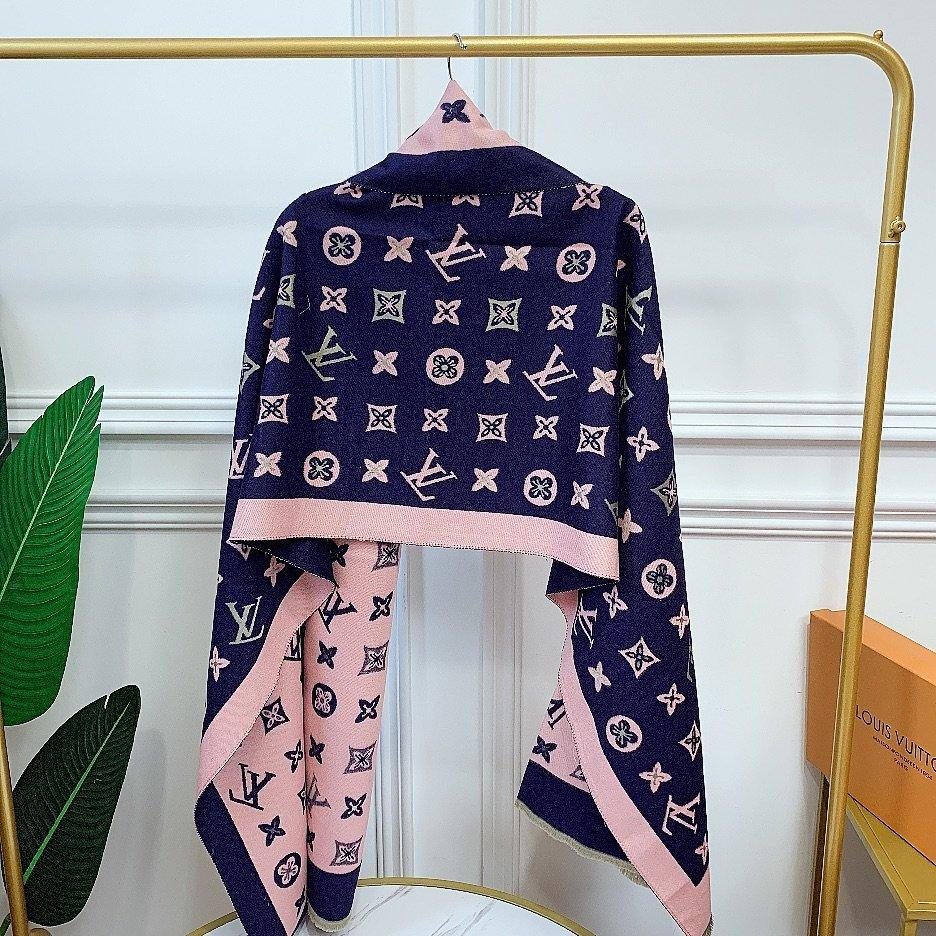 LV新冬季新款围巾羊绒混纺质地柔和保