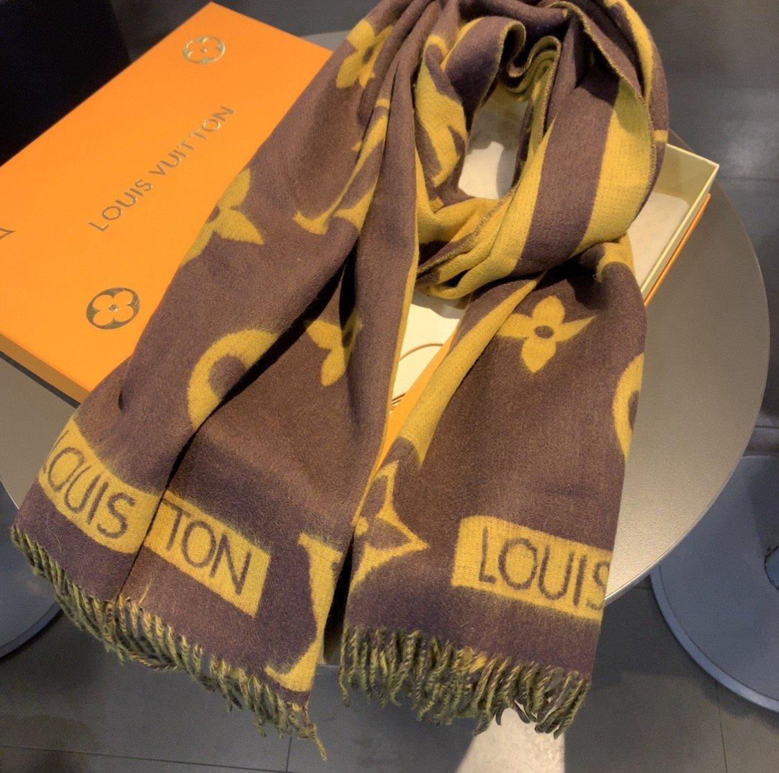 上新专柜最新款LV男女通用款围巾面料