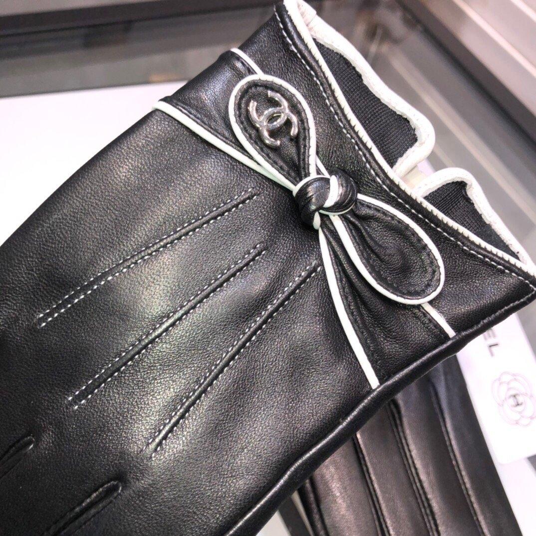配包装香奈儿最美小蝴蝶结触屏手套采用