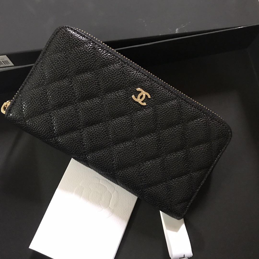 Chanel香奈儿专柜款 鱼子酱牛皮钱包(图3)