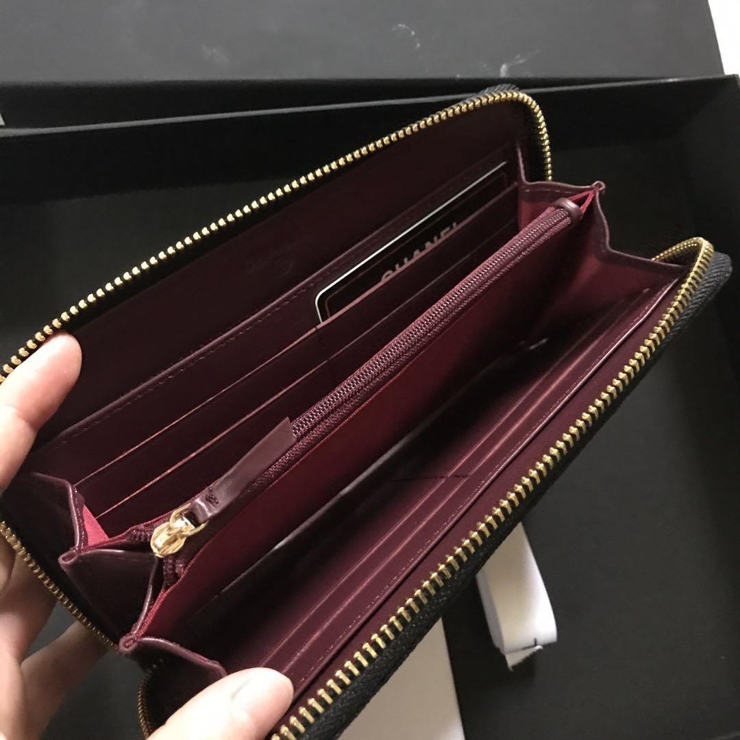 Chanel香奈儿专柜款 鱼子酱牛皮钱包(图4)