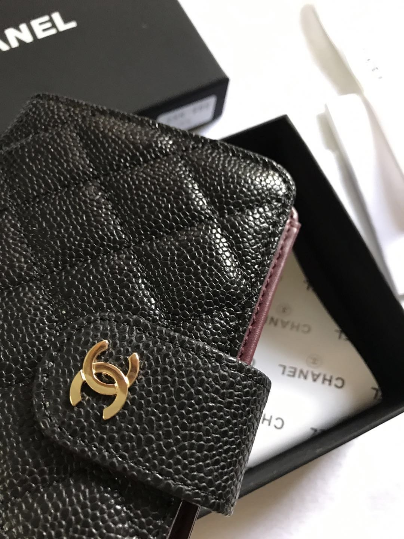 Chanel香奈儿专柜款鱼子酱牛皮钱包 专柜款式(图3)