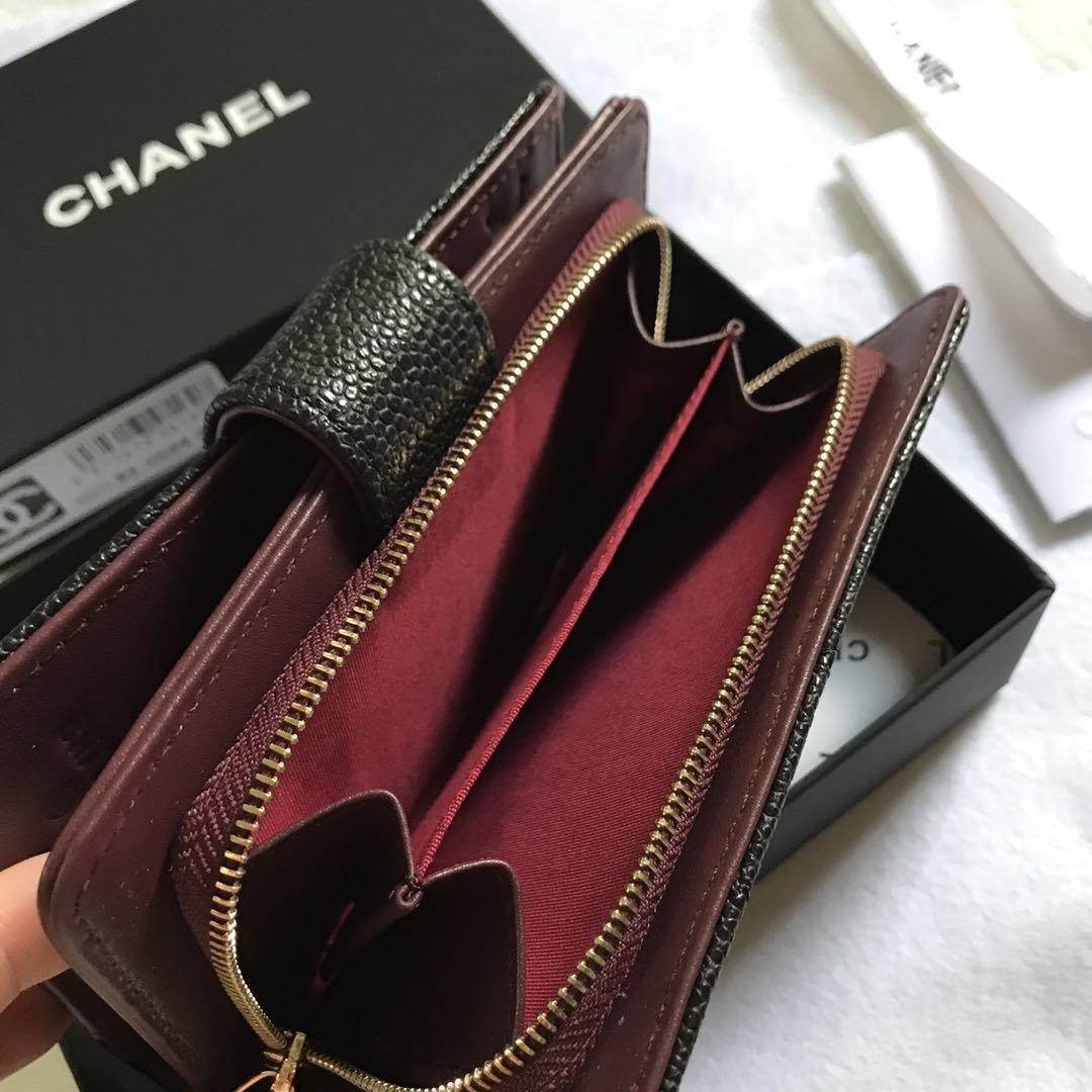Chanel香奈儿专柜款鱼子酱牛皮钱包 专柜款式(图4)