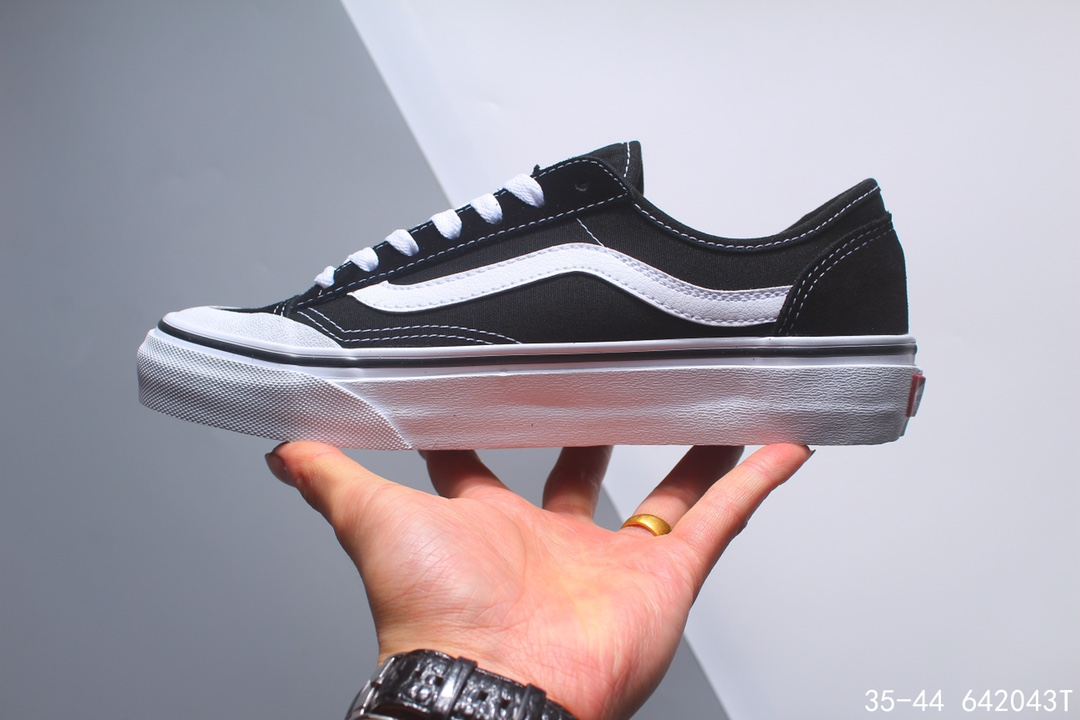 💰168万斯/范斯 Style 36 Cecon SF 19年新版翻盖鞋盒 重磅回归 权志龙小头杀人鲸 休闲板鞋 加入当下火爆的杀人鲸半月包头,塑造出不一样的复古鞋型 !size:如图编码:642043T