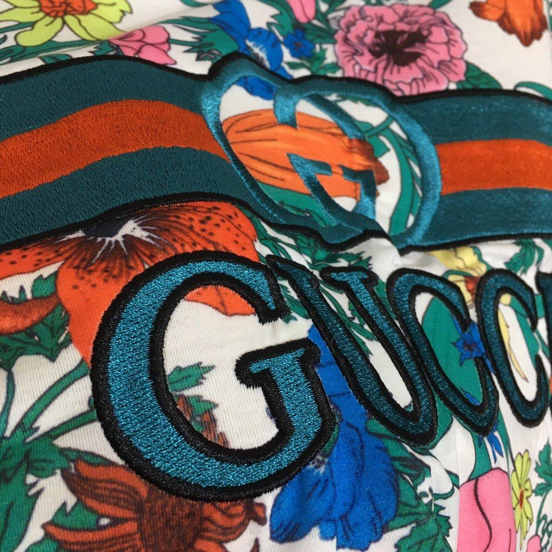 Gucci新款经典红绿logo字母刺