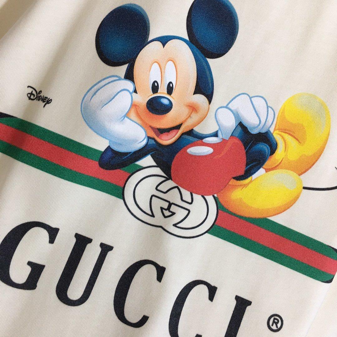 Gucci新款卡通米奇米老鼠印花短袖