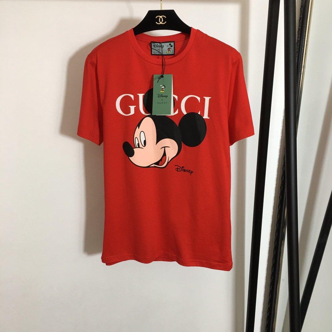 Gucci新款卡通米奇米老鼠头像印花