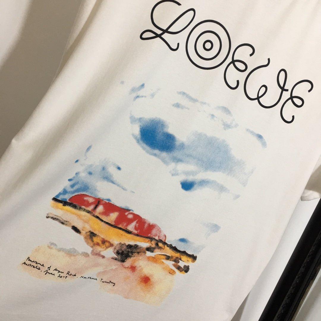 Loewe新款涂鸦印花休闲短袖T恤白