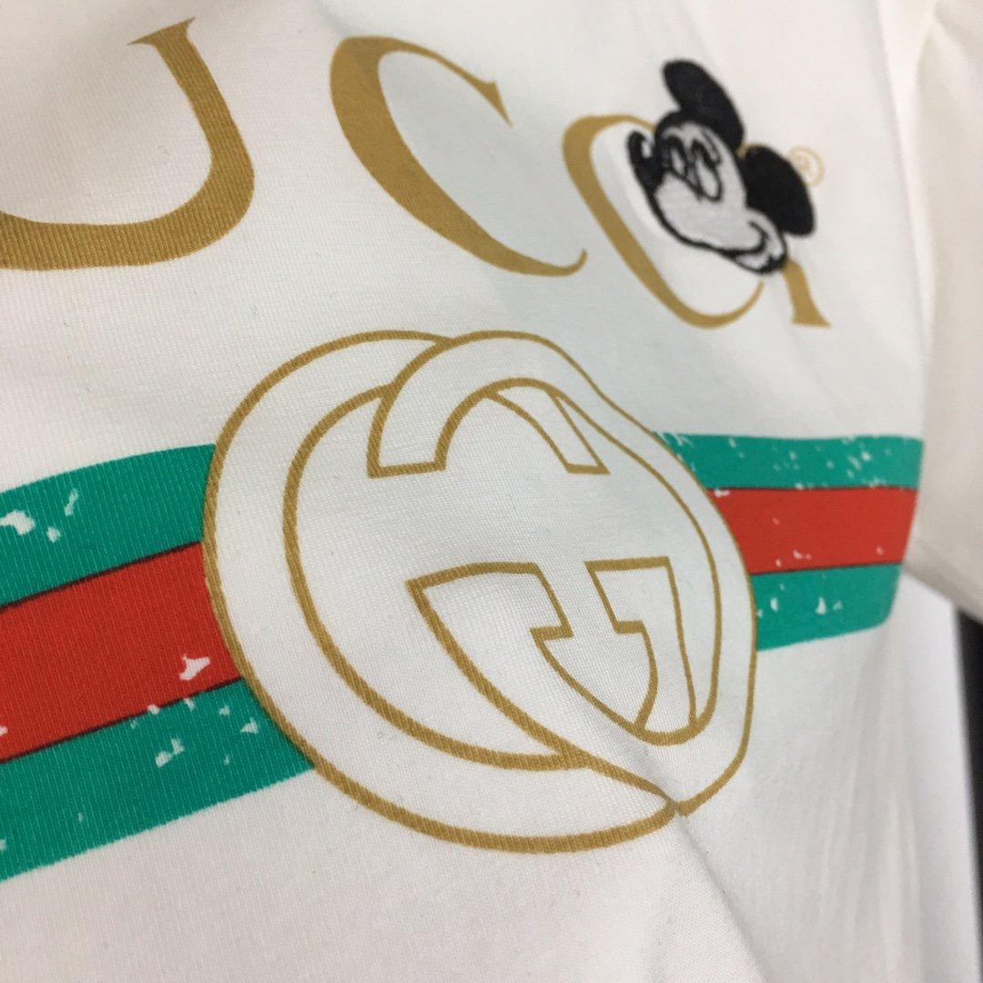 Gucci新款经典logo字母印花米