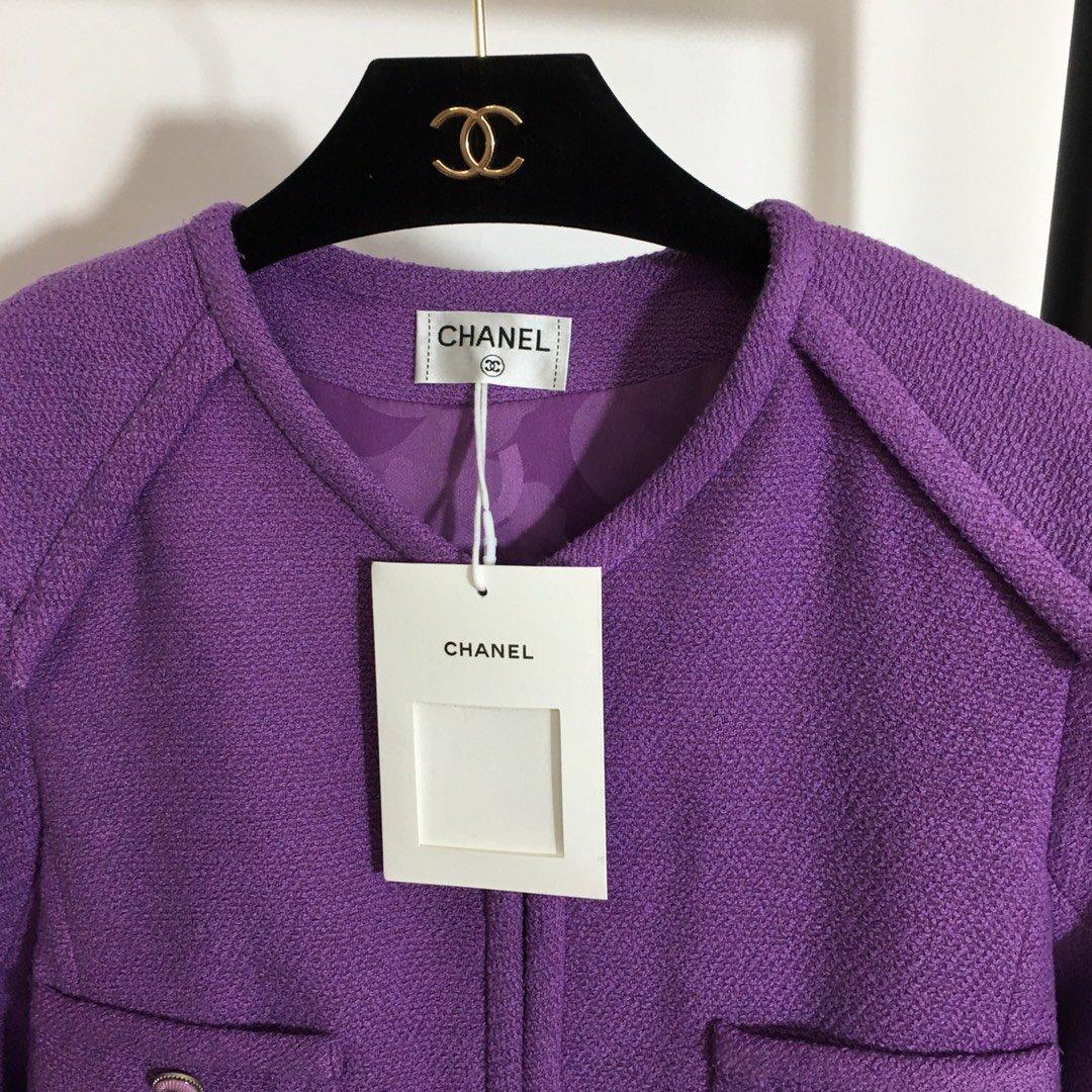 Chanel新款名媛小香风四口袋粗花